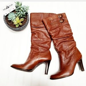 🎉Matisse Tall Vegan Leather Brown Buckle Boots🎉